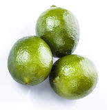 Lime. Fresh lime over white background royalty free stock images