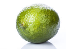 Lime. Fresh lime over white background stock image