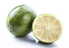 Lime. Fresh lime over white background royalty free stock photo