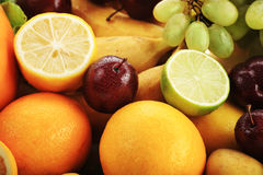 Lime. Fresh Vegetables, Fruits and other foodstuffs. Shot in a studio Royalty Free Stock Photography
