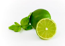 Lime. Green double . lemon Stock Images