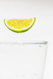 Lime in air Stock Photography