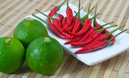 Lime And Chilli Stock Image