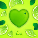 Lime art composition Stock Images