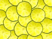 Lime background. Background texture made of fresh lime slices Royalty Free Stock Photos