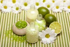 Lime bath salt Stock Photography