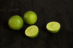Lime, black background Stock Image