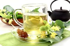 Lime blossom tea Stock Image