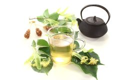 Lime blossom tea Royalty Free Stock Photo