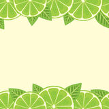 Lime border Royalty Free Stock Images