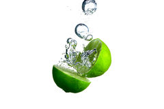 Lime and bubble Royalty Free Stock Image