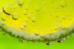 Lime with bubles Stock Photography