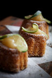 Lime bundt cake Stock Photo