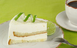 Lime Cake with Coffee Royalty Free Stock Image