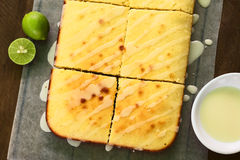 Lime Cake with Icing Royalty Free Stock Photo