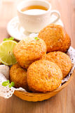 Lime cakes in basket Royalty Free Stock Photos