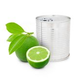 Lime can Royalty Free Stock Images