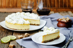 Lime cheesecake Stock Images