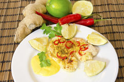 Lime chili chicken Royalty Free Stock Photo