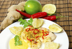 Lime chili chicken Royalty Free Stock Photography