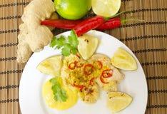 Lime chili chicken Stock Photo