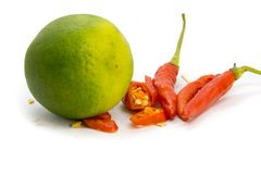 Lime and Chili royalty free stock photo