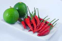 Lime and Chilli Royalty Free Stock Images