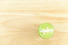 Lime on chopping block Stock Photo