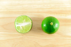Lime on chopping block Royalty Free Stock Photo