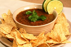Lime Cilantro Salsa Stock Photography