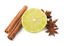 Lime, cinnamon and anis Royalty Free Stock Image