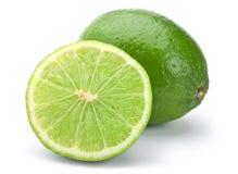 Lime citrus fruit. Closeup isolated on white Royalty Free Stock Photo
