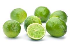 Lime citrus fruit. Closeup isolated on white Royalty Free Stock Image