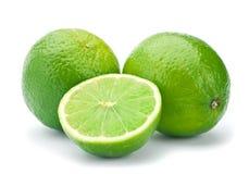 Lime citrus fruit. Closeup isolated on white Royalty Free Stock Photos