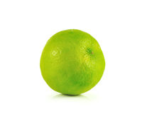 Lime close up isolated on white background Stock Image