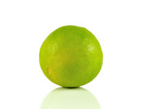 lime close up isolated on white background. Royalty Free Stock Images