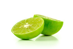 Lime close up isolated on white background Royalty Free Stock Images