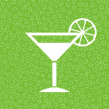 Lime cocktail icon. Over green background Stock Photo