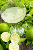 Lime cocktail Royalty Free Stock Photos