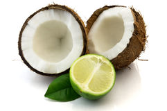 Lime and cocos Royalty Free Stock Photography