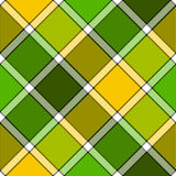 Lime color diagonal check plaid seamless pattern Royalty Free Stock Photos