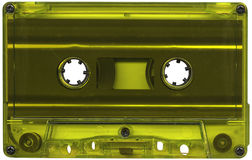 Lime coloured cassette tape Royalty Free Stock Image