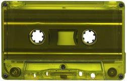 Lime coloured cassette tape. Retro lime coloured plastic cassette tape Royalty Free Stock Image