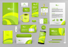 Lime corporate identity template. Lime branding design kit. Identity template for hotel, shop or ecological  technology. Business stationery mock-up. Editable Royalty Free Stock Images