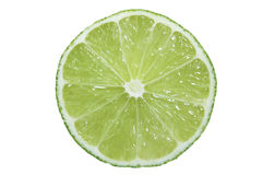Lime Cross Section. A Green Lime Cross Section Royalty Free Stock Photos