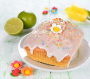 Lime cupcake decorated with glaze Stock Photo
