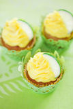 Lime cupcake Royalty Free Stock Image
