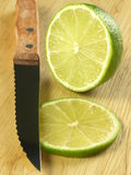 Lime cut in half Stock Photography