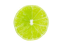 Lime cut in half Royalty Free Stock Images
