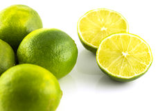 Lime Cut Into Half Royalty Free Stock Image
